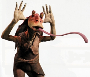 Jar Jar don't needsa your lovea